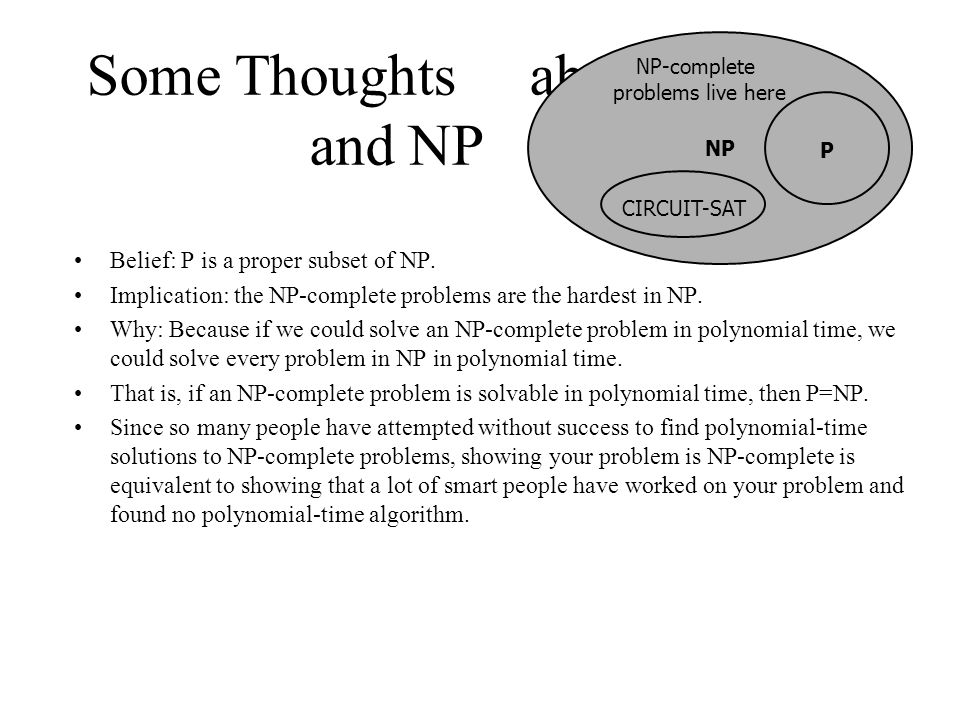 Some Thoughts about P and NP