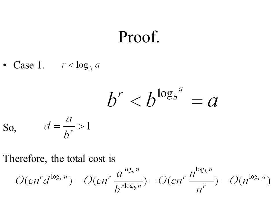 Proof. Case 1. So, Therefore, the total cost is