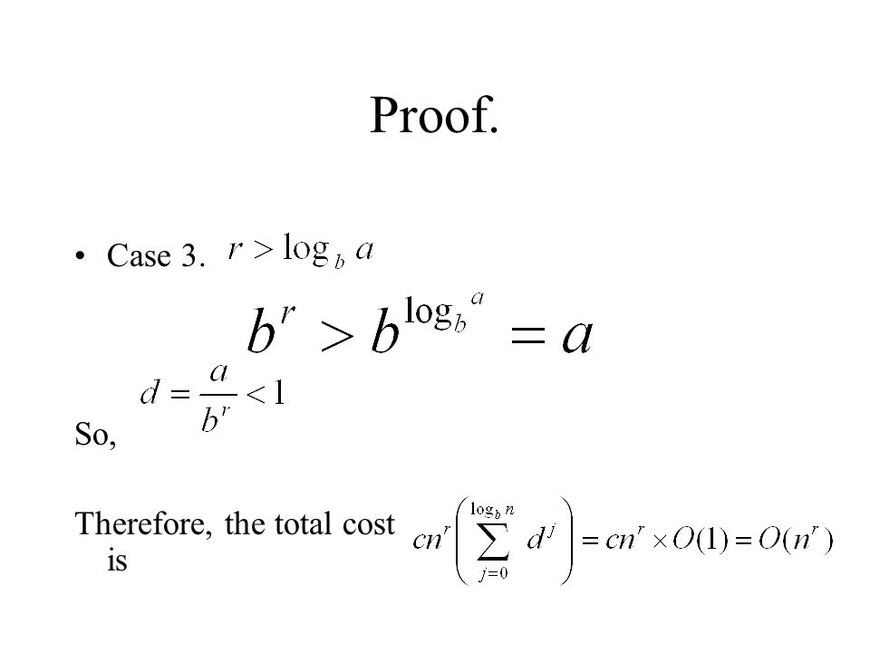 Proof. Case 3. So, Therefore, the total cost is