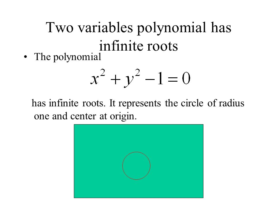 Two variables polynomial has infinite roots