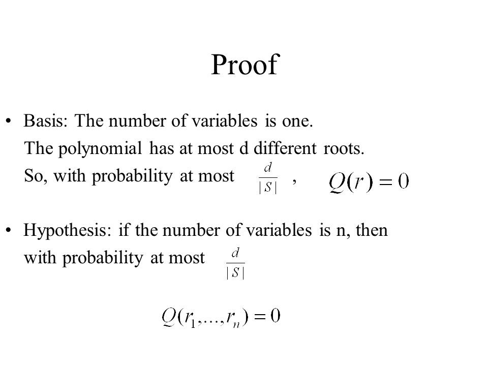 Proof Basis: The number of variables is one.