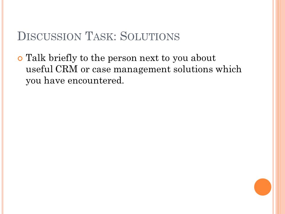 Discussion Task: Solutions