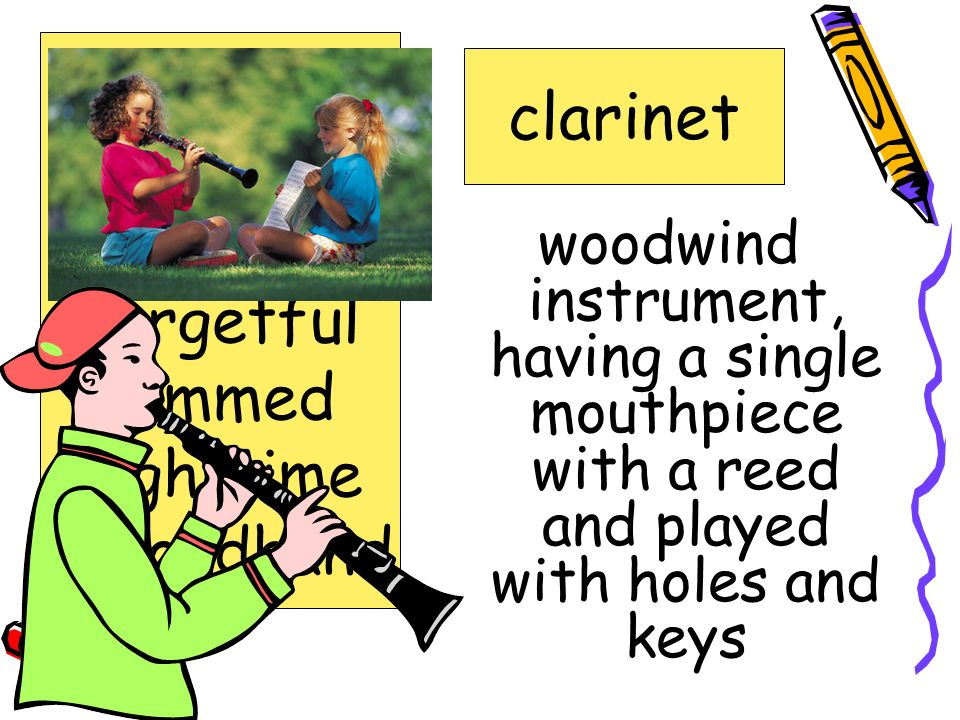 bass clarinet clarinet fidgety forgetful jammed nighttime secondhand