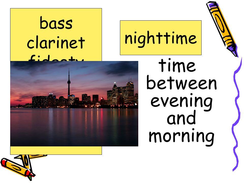 time between evening and morning