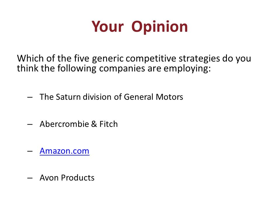Evaluating a company s resources and competitive position for General motors pricing strategy