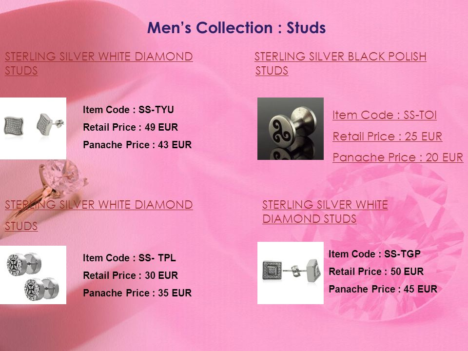 Men's Collection : Studs