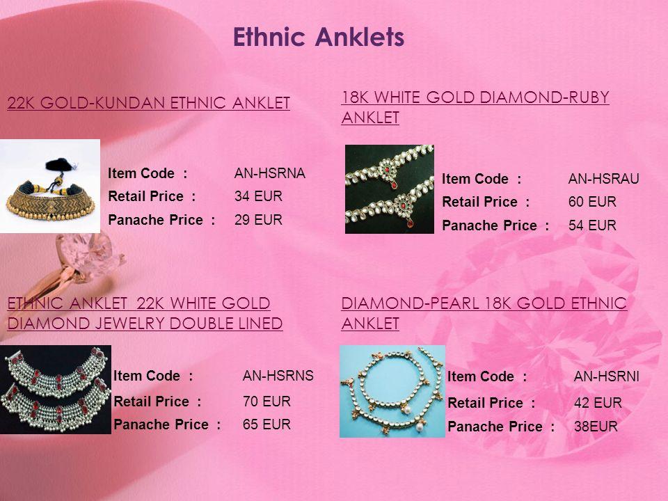 Ethnic Anklets 18K WHITE GOLD DIAMOND-RUBY ANKLET