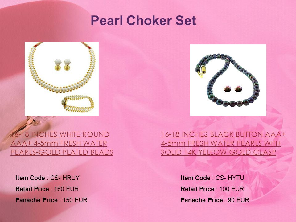 Pearl Choker Set 16-18 INCHES WHITE ROUND AAA+ 4-5mm FRESH WATER PEARLS-GOLD PLATED BEADS.