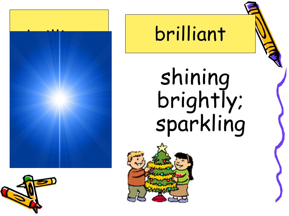 shining brightly; sparkling