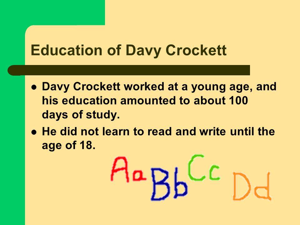 Education of Davy Crockett