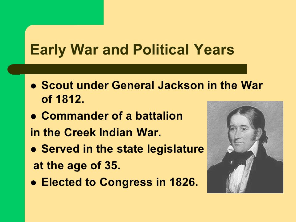 Early War and Political Years