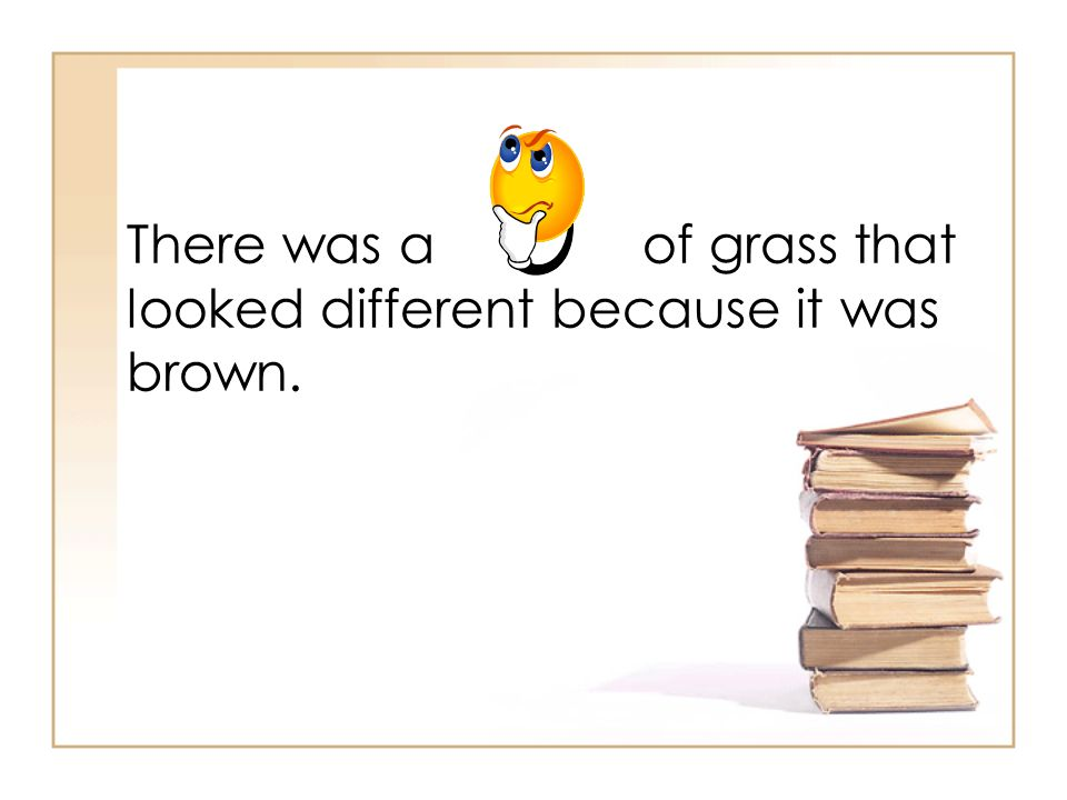 There was a of grass that looked different because it was brown.