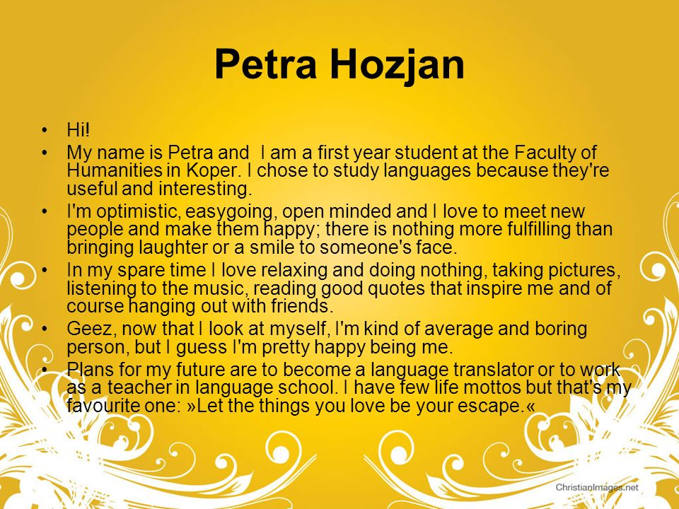 Petra Hozjan Hi!