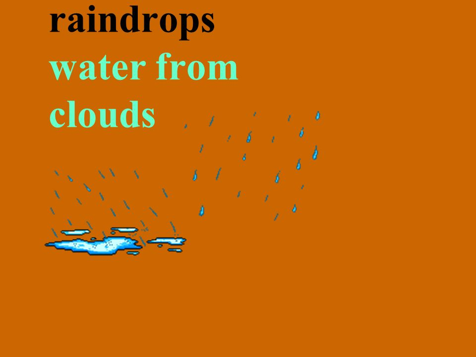 raindrops water from clouds