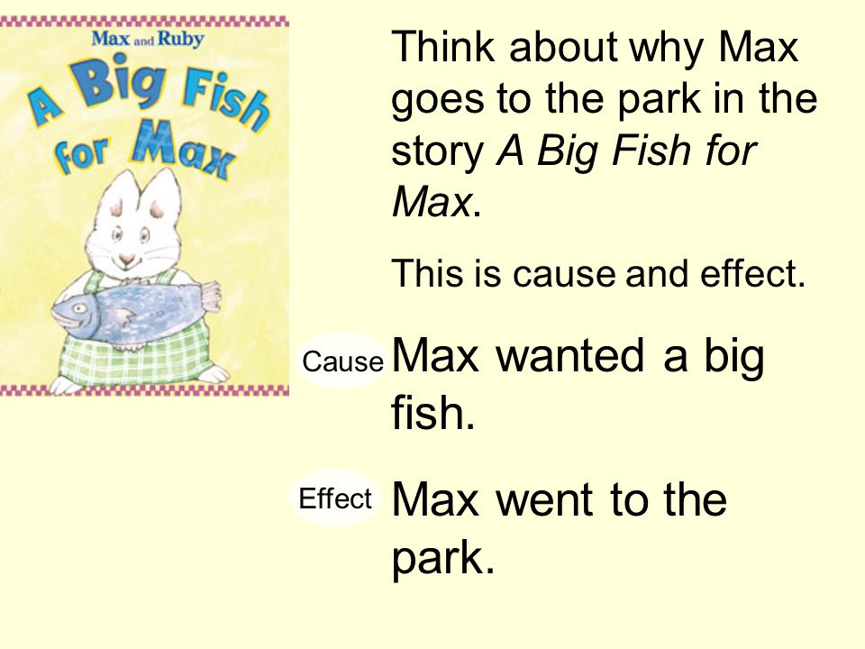 Max wanted a big fish. Max went to the park.