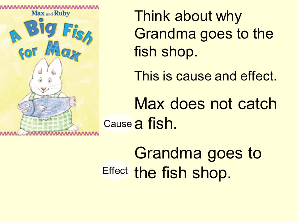 Max does not catch a fish.