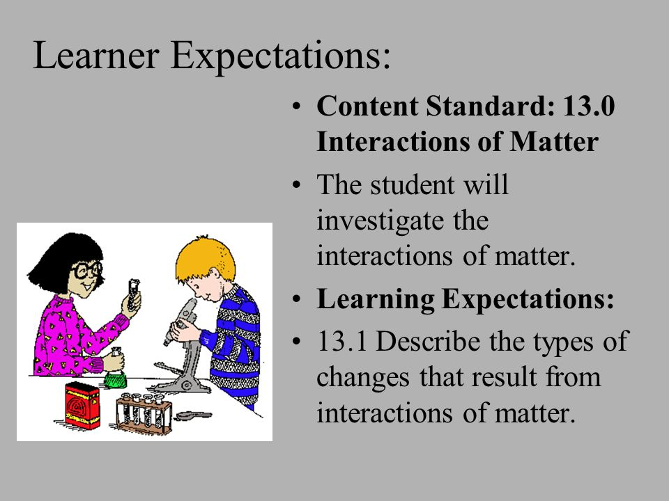 Learner Expectations: