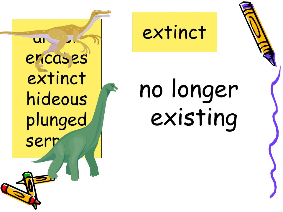 no longer existing extinct armor encases extinct hideous plunged