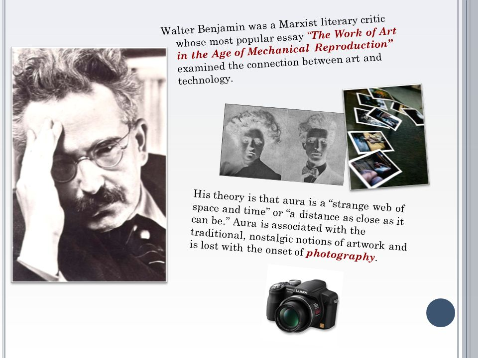walter benjamin essay on art Walter benjamin - the work of art in the age of mechanical reproduction summary works of art have always been reproducible, through imitation mechanical reproduction.