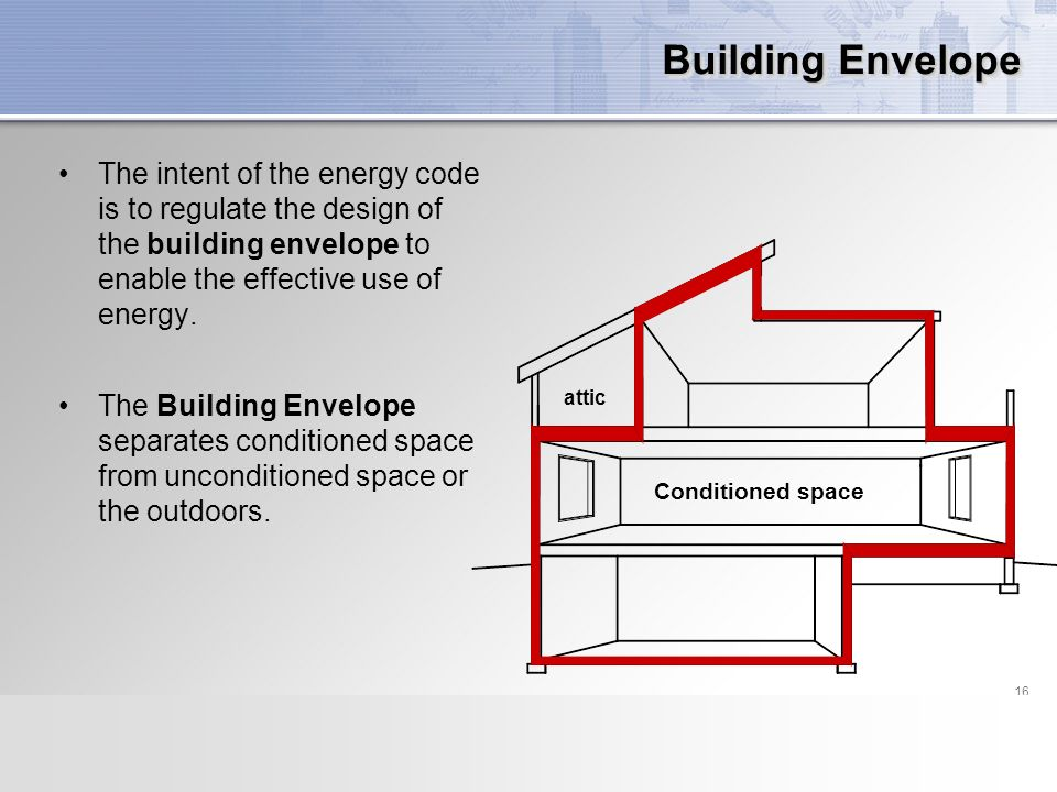 Residential energy code compliance ppt download for Envelope house plans