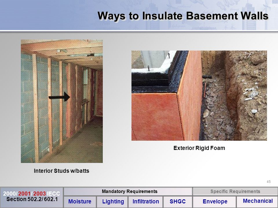 Should I Insulate Basement Walls : Residential energy code compliance ppt download