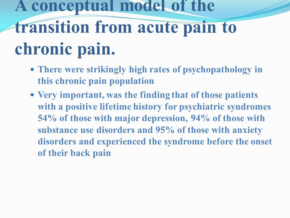 chronic pain concept analysis National center for complementary and integrative health 4 chronic pain  osteoarthritis —a 2012 combined analysis of data from several studies indicated that.