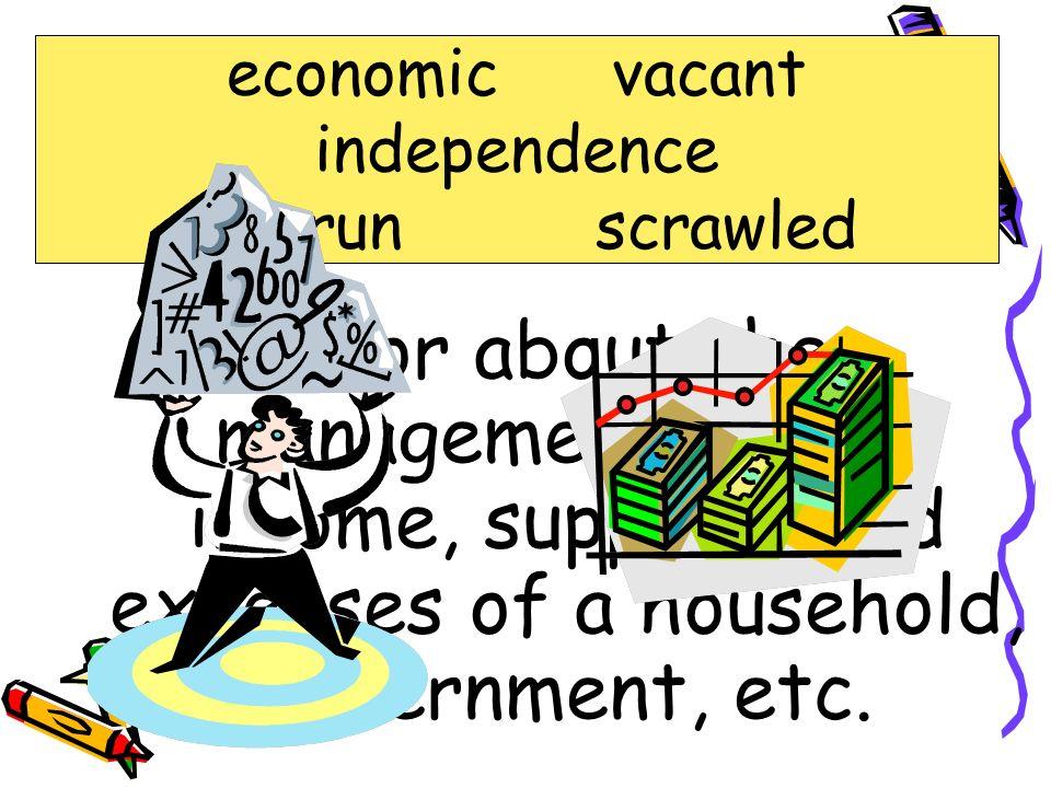 economic vacant independence. overrun scrawled. economic.