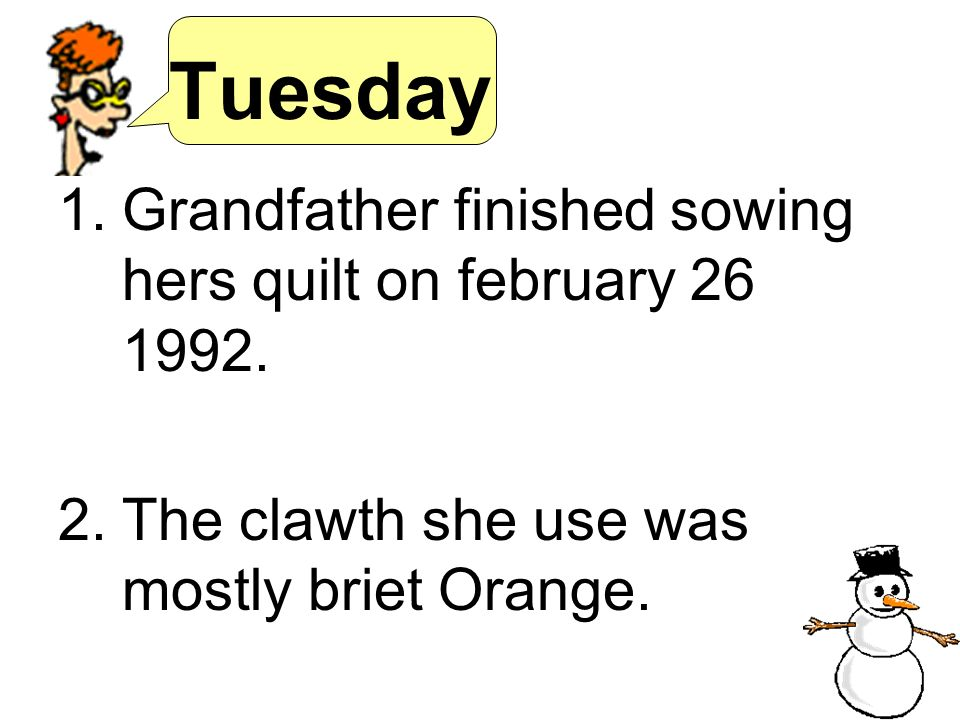 Tuesday Grandfather finished sowing hers quilt on february 26 1992.
