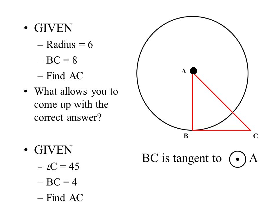 how to find tangent of a circle