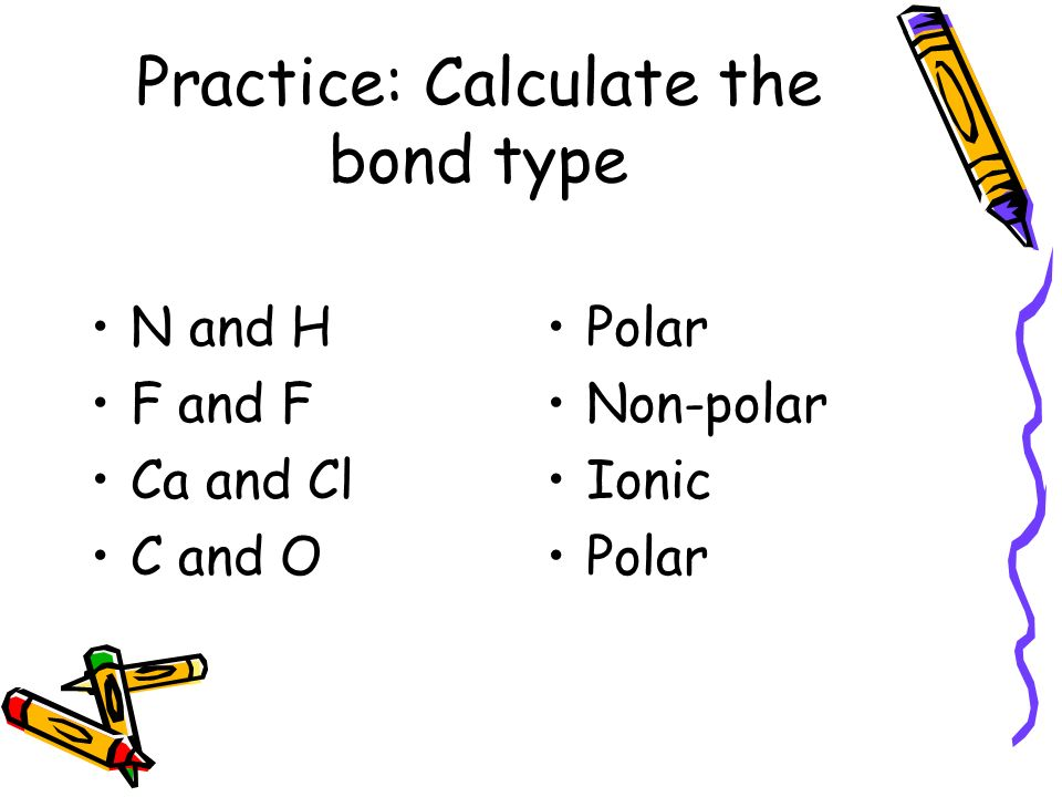 Practice: Calculate the bond type