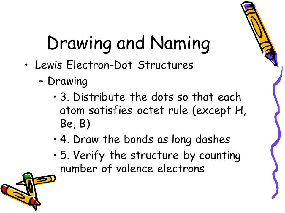 Drawing and Naming Lewis Electron-Dot Structures Drawing
