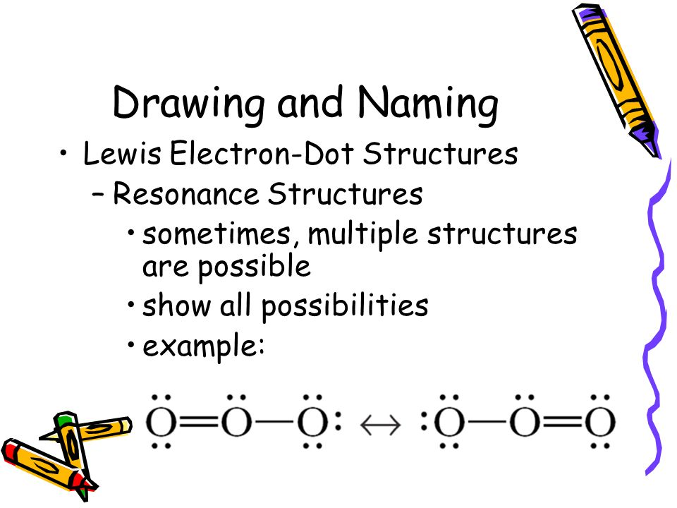 Drawing and Naming Lewis Electron-Dot Structures Resonance Structures