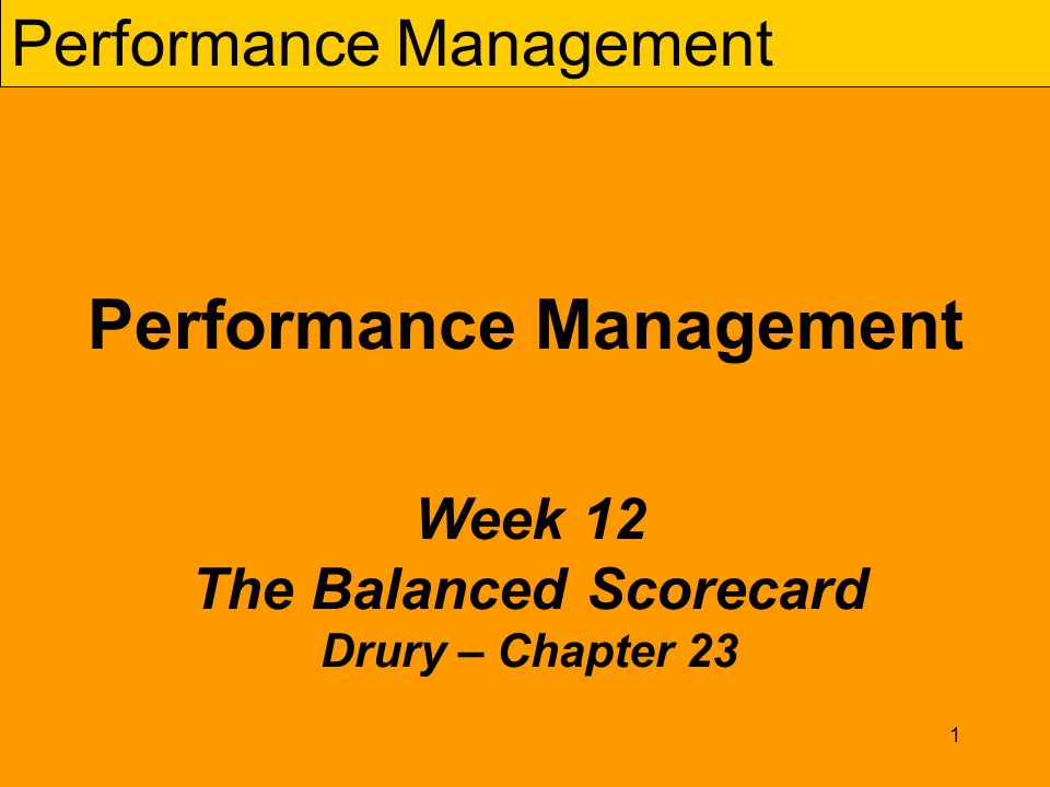 Balanced scorecard strategy and performance management management essay