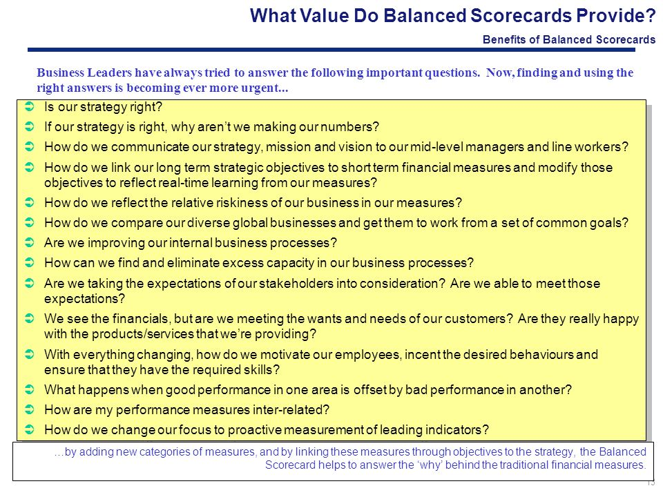 Customer Value Balanced Scorecard and KPIs in MS Excel