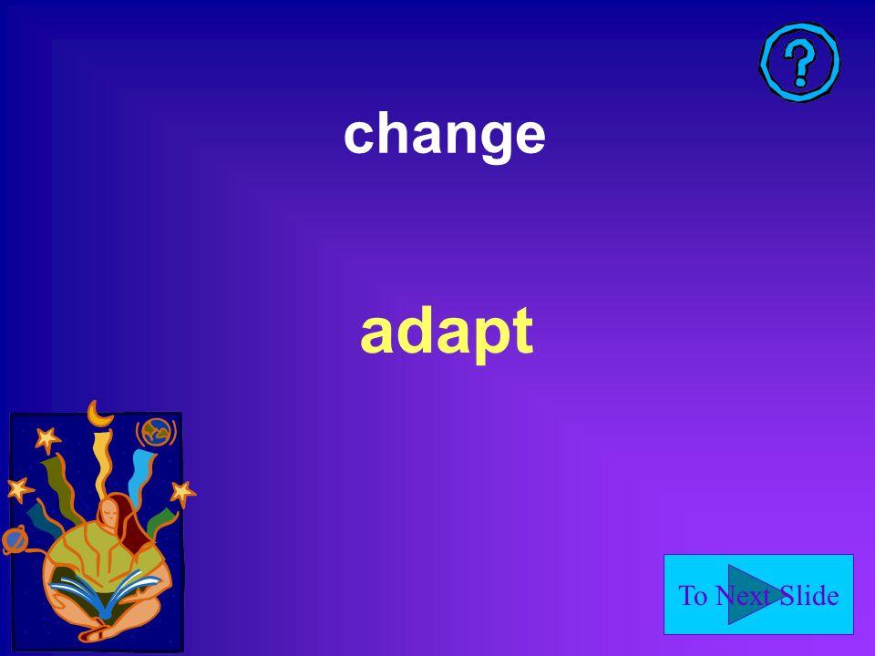 change adapt