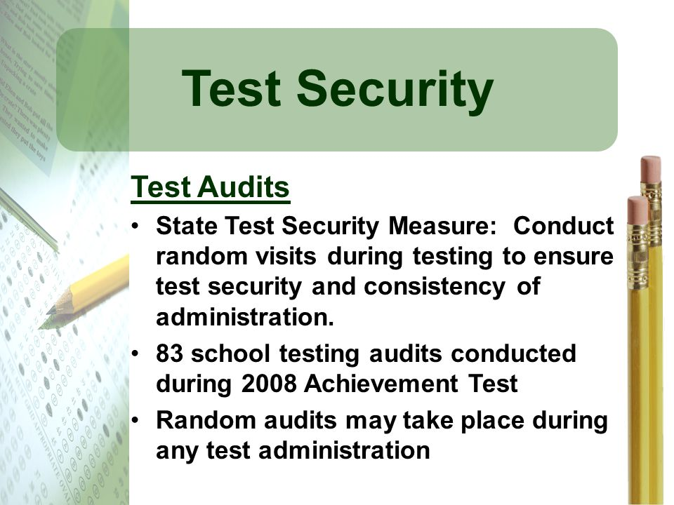 Test Security Test Audits