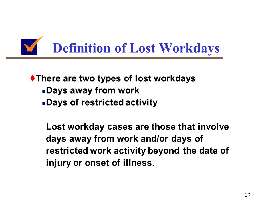 how to count days away from work osha