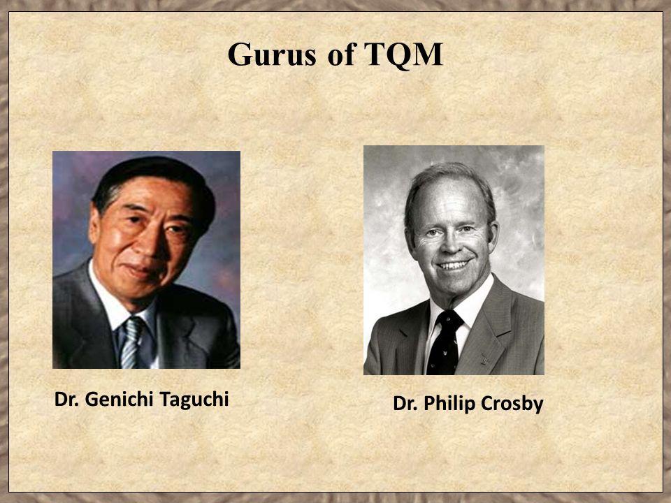 Gurus of TQM Dr. Genichi Taguchi Dr. Philip Crosby