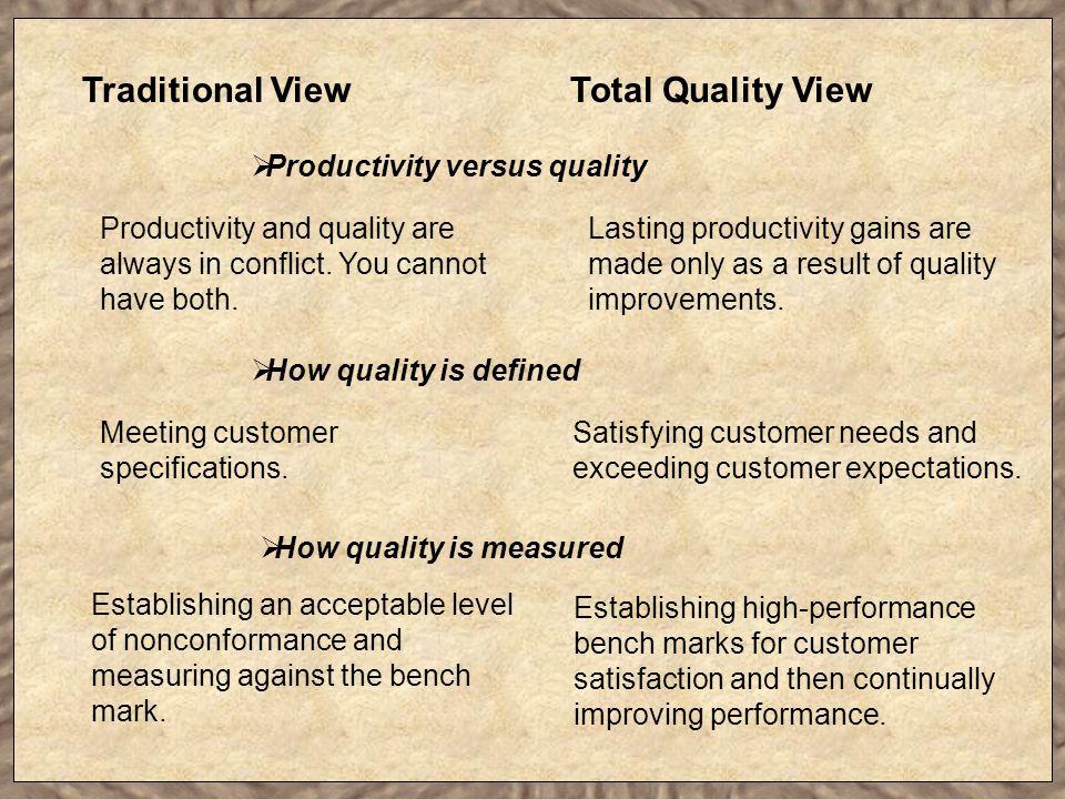 Productivity versus quality