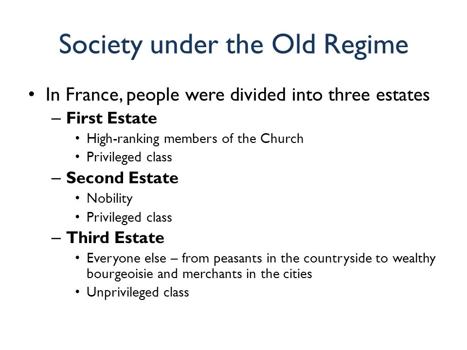 The Old Regime in France: Absolute Monarchy