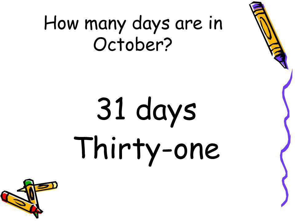 How many days are in October
