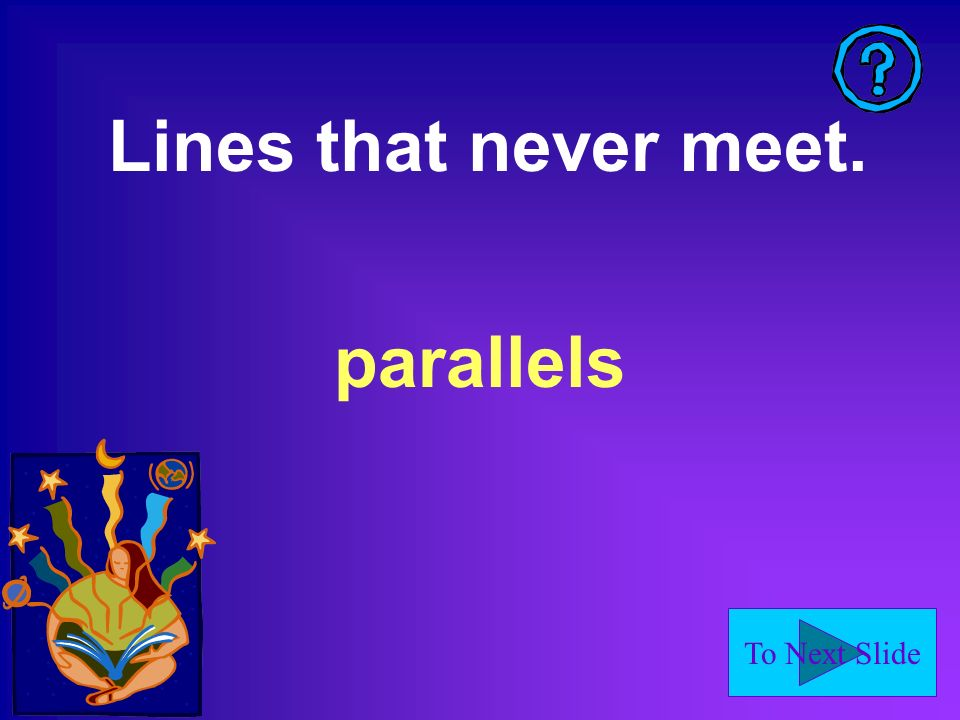 Lines that never meet. parallels