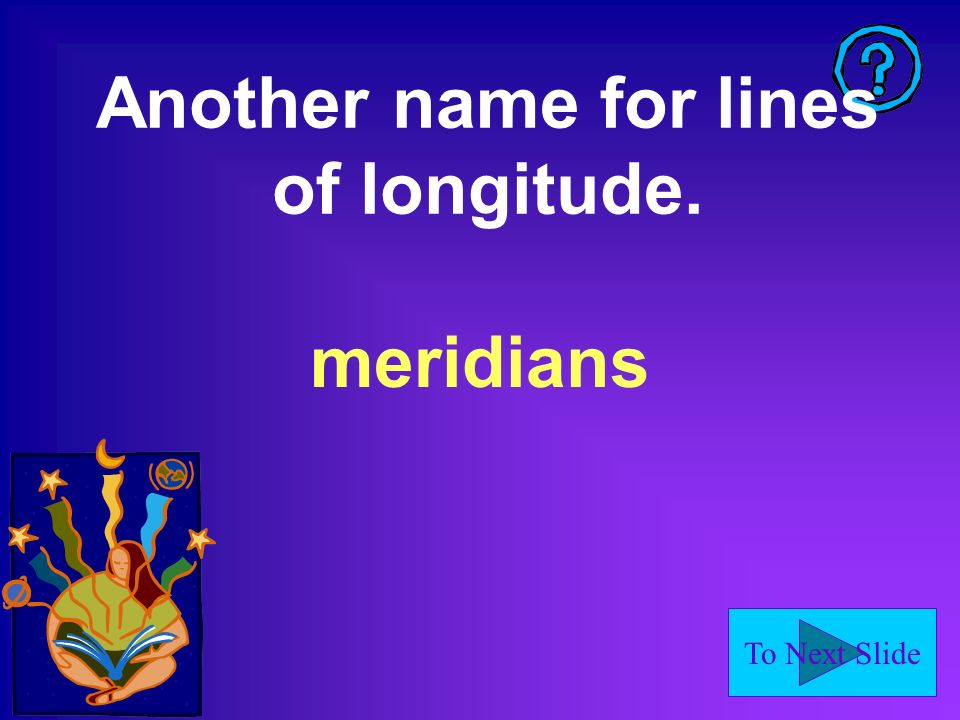 Another name for lines of longitude.