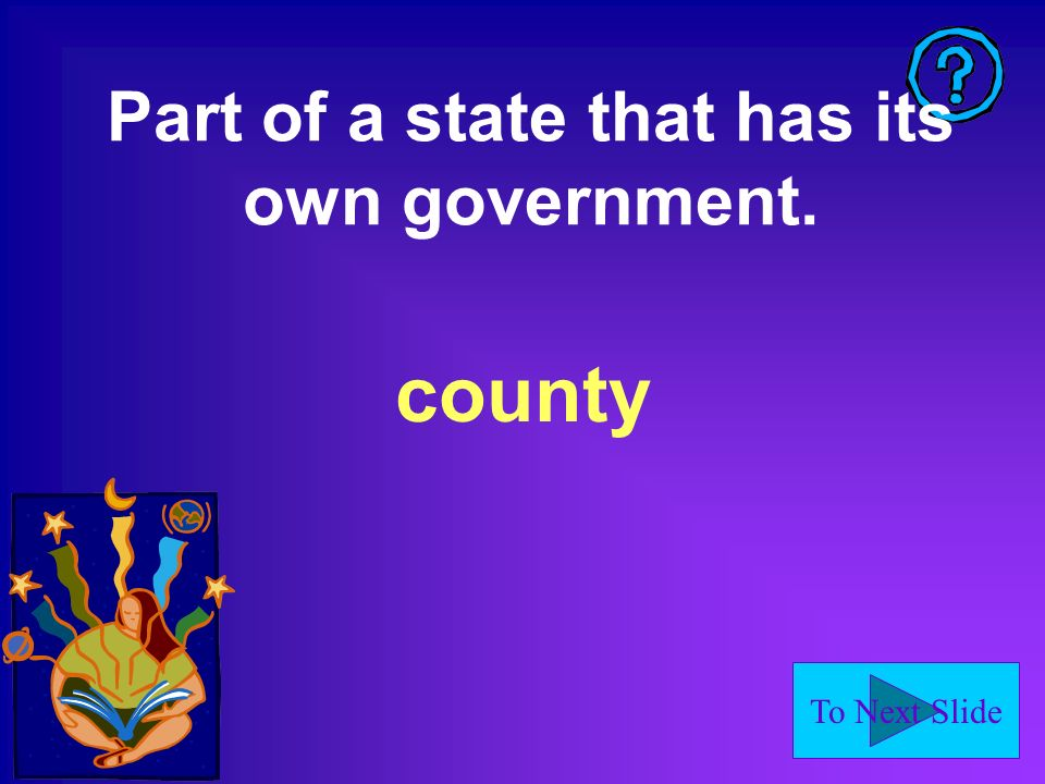 Part of a state that has its own government.