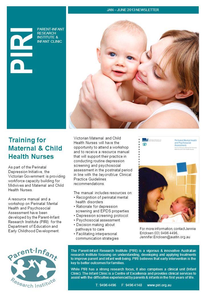 PIRI Training for Maternal & Child Health Nurses