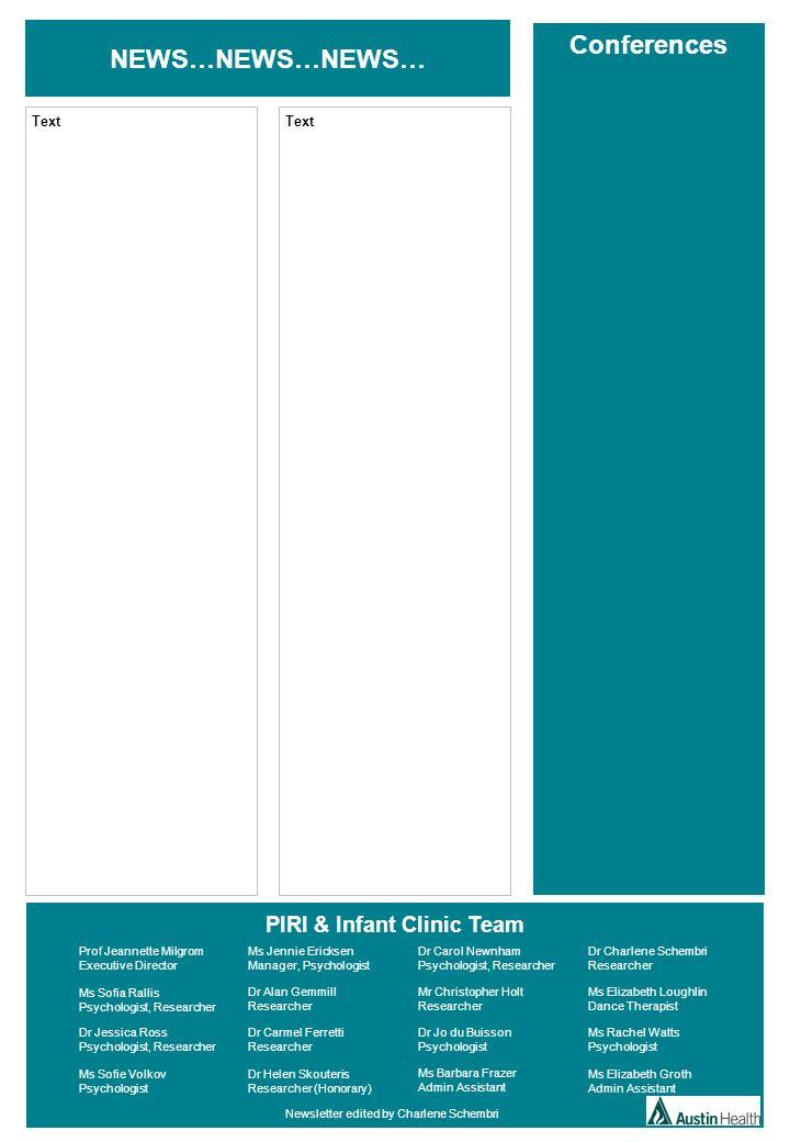 PIRI & Infant Clinic Team