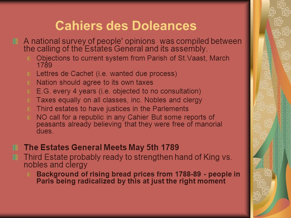 cahier of the third estate of dourdan Read abb siey s's what is the third estate on p 383 in perspectives 4 read the grievance petitions from dourdan on p how did the french revolution and napoleonic era affect the role of women.