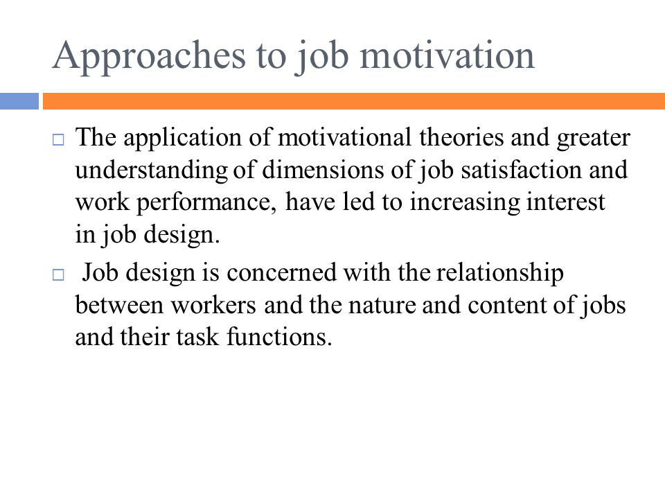 the relationship between motivation and job satisfaction
