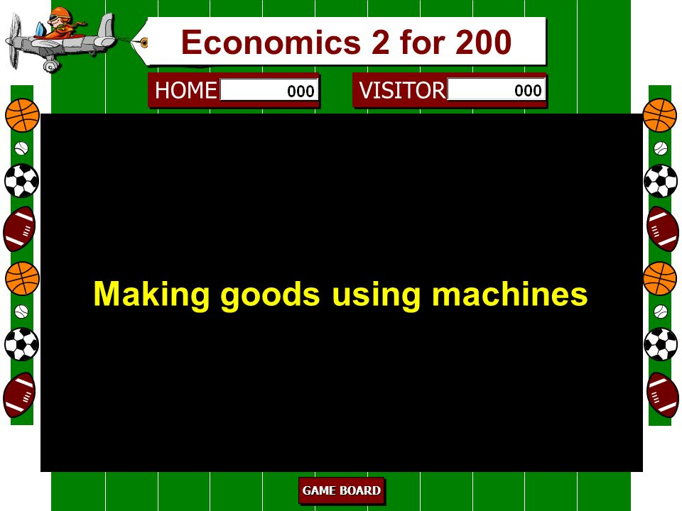 Making goods using machines Industry/manufacturing