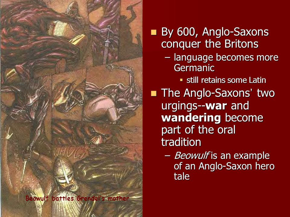 the portrayal of the anglo saxon culture in the tale of beowulf Posts about anglo saxon literature written by tagged anglo saxon culture, anglo saxon literature, beowulf beowulf, sir gawain, & canterbury tales.